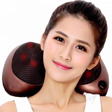 Gối massage hồng ngoại Shika - 8 bi Sạc PIN