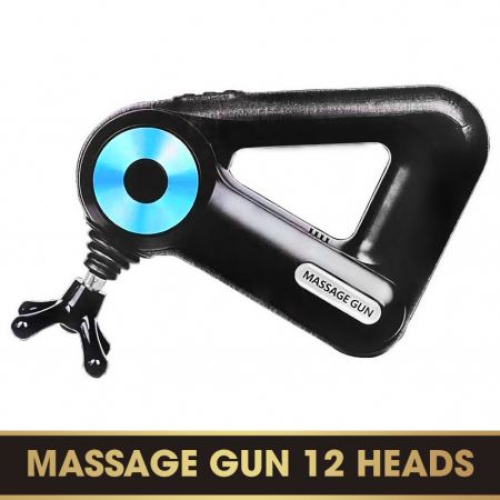 Súng massage cầm tay 12 đầu MASSAGE GUN (Pin Sạc)