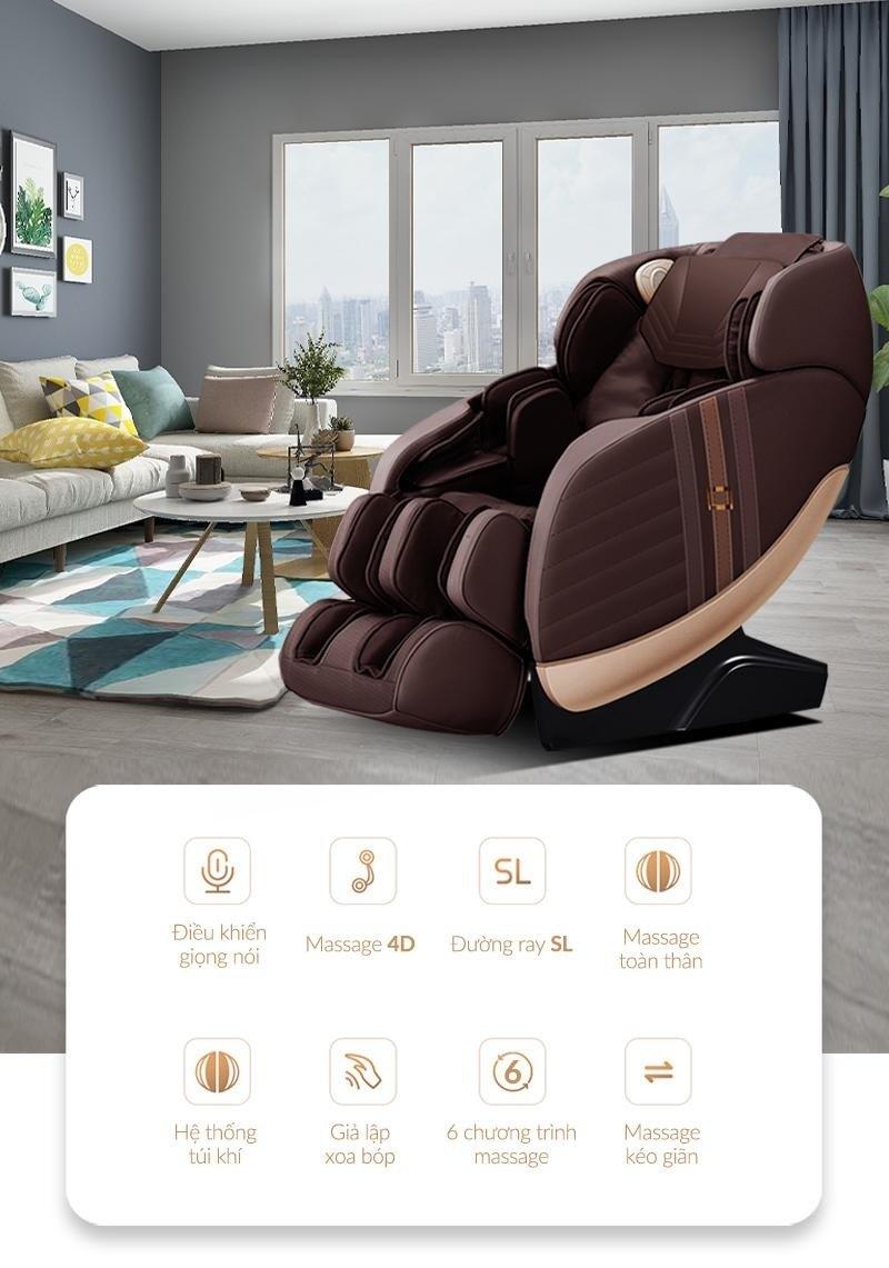 Các tính năng nổi bật của ghế massage toàn thân Fujikashi FJ-4200