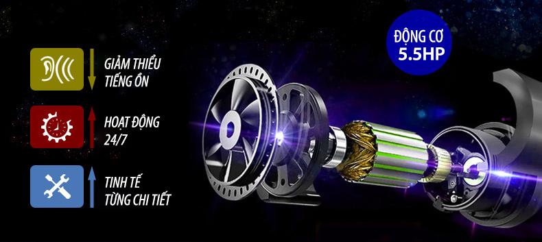 Máy chạy bộGoodfor AC-05 sở hữu động cơ 5.5HP vô cùng mạnh mẽ