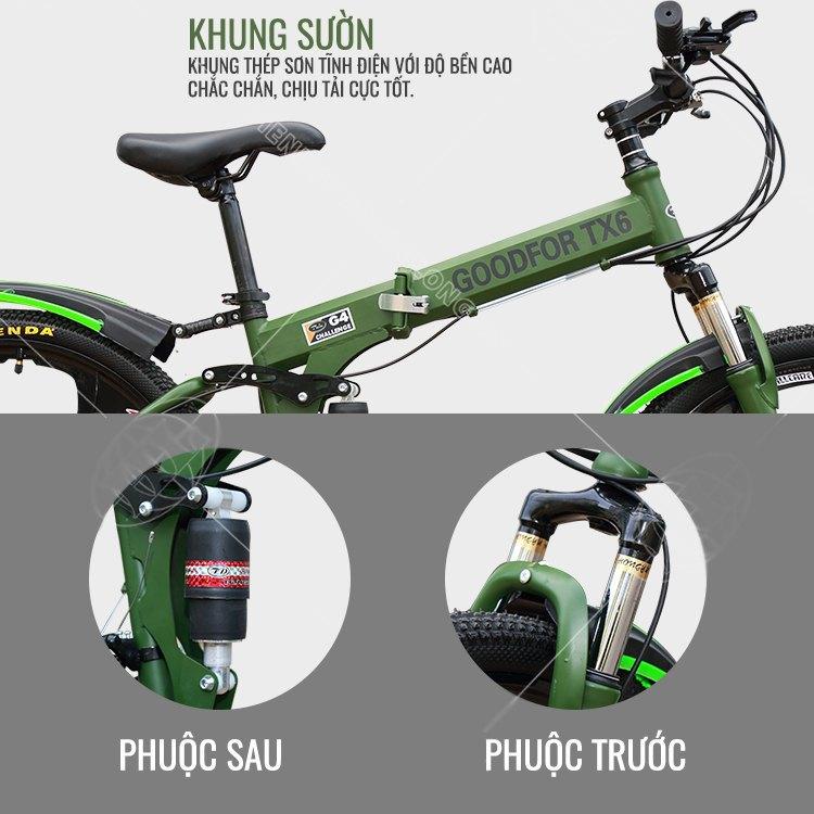 Xe đạp gấp thể thao GoodFor TX6